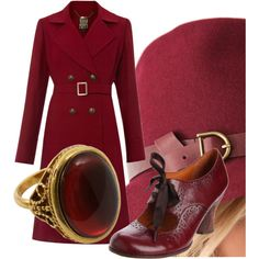 Ruby red and romantic. Beautiful!