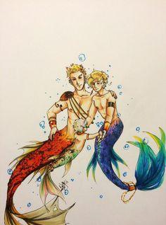 Mermaid Anko Family by BlackDiamond13