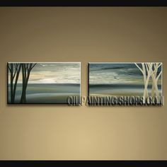 Amazing Modern Abstract Painting Oil Painting On Canvas Panels Stretched Ready To Hang Abstract. This 2 panels canvas wall art is hand painted by Bo Yi Art Studio, instock - $143. To see more, visit OilPaintingShops.com