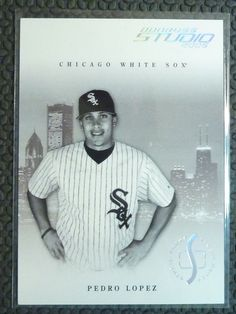 2005 Donruss Studio PEDRO LOPEZ Private Signings Rookie Card RC #74 #10/100 #ChicagoWhiteSox