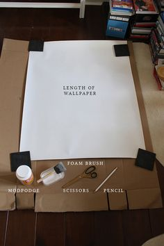 What you need to create my DIY wallpapered chest of drawers.