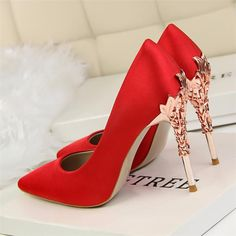 hot high heels no back Hot High Heels, High Heels Stilettos, High Heel Boots, Womens High Heels, Women's Pumps, Stiletto Heels, Shoes Heels, High Shoes, Red Heels