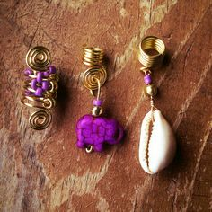 Loc Jewelry 3pc Gold Wire Purple by AsiliaDesigns on Etsy