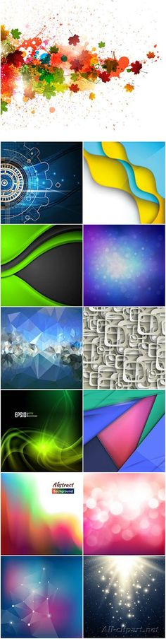 Яркие абстрактные векторные фоны - 44