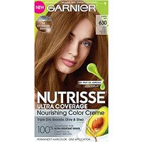 Photo of nutrisse ultra coverage hair color deep light golden brown (toffee nut) 630 Olia Hair Color, Hair Color Cream, Temporary Hair Color, Permanent Hair Color, At Home Hair Color, Color Your Hair, Light Golden Brown Hair, Golden Hair, Golden Blonde