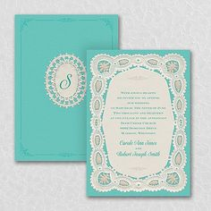 Homespun Lace Design Wedding Invitations. Are you the perfect mix of old-fashioned and modern? So is this rustic lace wedding invitation! Choose the colors to highlight the lace design and your style. Item Number:TWS35277 $154.90 Per 100