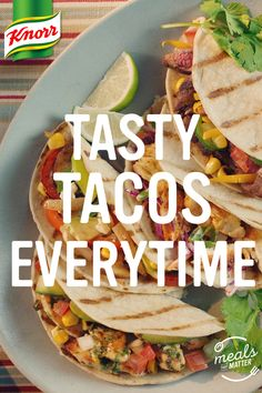 Every night can be taco night with these easy taco recipes! 🌮 KnorrPartner is part of Easy taco recipes - Beef Recipes, Mexican Food Recipes, Chicken Recipes, Cooking Recipes, Cooking Rice, Cooking Steak, Cooking Eggs, Cooking Chips, Cooking Torch