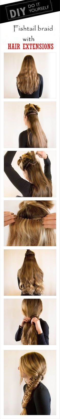 Rich fish tail braid with clip in hair extension. Want to get this hair extension? Click and buy now!