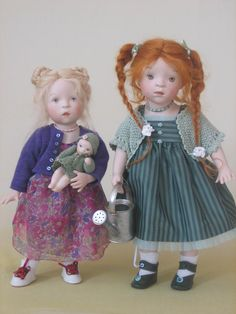 Sylvia Natterer SUNDAY AFTERNOON collection dolls_MINNIE & RUTH, 2008