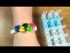 sandylandya@outlook.es  Olympic theme rubber band bracelet made with Rainbow Loom®