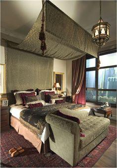 Schlafzimmer Design Orientalisch Bett Gardinen Beleuchtung Homes - Orientalische schlafzimmer