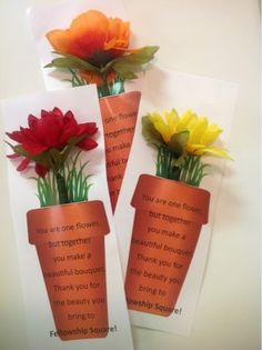 Resident Appreciation Week. Flower Pens potted with lots of love!