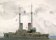A crisply detailed 1:700 model of the Andrei Pervozvanny ship by Jim Baumann.