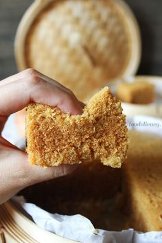A very easy-to-follow recipe for a Chinese dim sum favourite, ma lai gao (馬拉糕), or Chinese steamed sponge cake, that's extremely soft and springy, fluffy, and tasty!