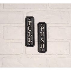 push/pull/door sign/vintage/wall decor/cast Iron sign/push sign/pull... ($7.99) ❤ liked on Polyvore featuring home, home decor, wall art, grey, home & living, cast iron wall art, door plaques, photo wall art, cast iron plaques and door wall art