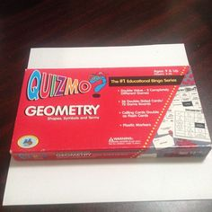 2004 QUIZMO GEOMETRY, #1 EDUCATIONAL BINGO SERIES, AGES 9 AND UP, 2-36 PLAYERS #WorldClassLearning