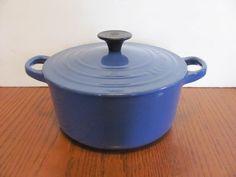 Le Creuset 2 Qt Dutch Oven Cobalt Blue by MamabirdsVintage on Etsy, $125.00