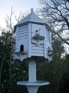 Dovecote for Pigeons or Doves. Birdhouse, Wood Birdhouse, Bird Feeder Made From Reclaimed Rustic Barn Wood, Bird House Garden SculpturePosted by Between Naps on the Porch. [I have a dove house but it isn't this cute] Fantail Pigeon, Pigeon House, Pigeon Loft, Large Bird Houses, Dove House, Lost Gardens Of Heligan, Four Seasons Room, Palomar, Bird House Plans