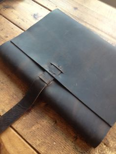 Leather sketchbook large leather refillable by LUSCIOUSLEATHERNYC