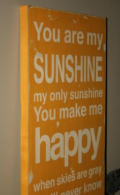 You Are My Sunshine Sign Typography Word Art by barnowlprimitives, $85.00