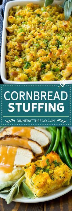 This old fashionedSouthern cornbread dressing recipe is a classic that's a must-have for every Thanksgiving table. It's made with celery, onions, homemade cornbread, white bread and plenty of herbs. You'll never look at cornbread stuffing the same way again!
