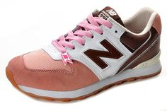 2013 New Balance 996 Women's sneakers pink / brown / white outlet