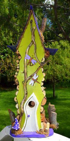 Bird House Kits Make Great Bird Houses Large Bird Houses, Bird Houses Diy, Fairy Houses, Wood Yard Art, Homemade Bird Houses, Birdhouse Designs, Bird House Kits, Bird Aviary, Bird Boxes