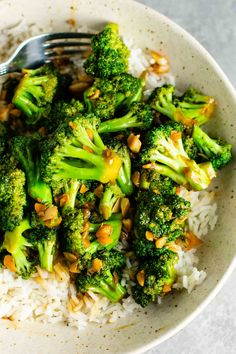 Chinese takeout style broccoli with garlic sauce recipe! So easy to make and tastes just like what you would order at a chinese restaurant!