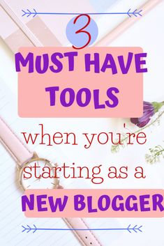 Do you want to start a blog? Are you starting out as a new blogger? Here are 3 tools you MUST Have when starting out. Being a new blogger can be so overwhelming, but no worries! Here you'll find a short list of must have tools to get you starting and on the road! Make Money Blogging, Way To Make Money, How To Start A Blog, How To Get, Must Have Tools, Blog Topics, Feeling Overwhelmed, Blogging For Beginners, Helping People