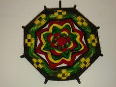 Mandala Pequeño con Bordados de 8 Puntas