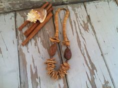 Check out this item in my Etsy shop https://www.etsy.com/listing/187483651/vintage-wooden-tribal-necklace-boho-wood