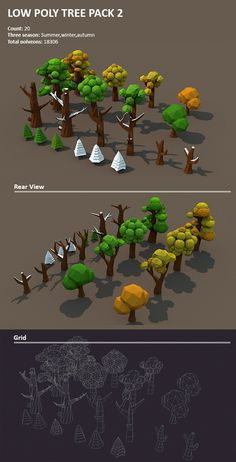 3DOcean Low poly Tree pack Part 2 12688783