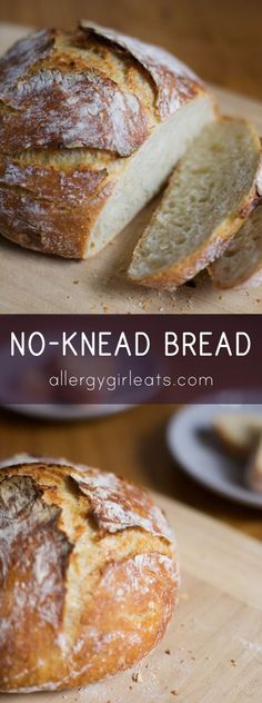 Easy no-knead bread. All you need is a dutch oven. Steps: make dough, leave it for 8-12 hours and bake for 40 minutes! Eat!