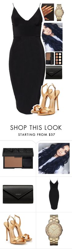 """new year's eve"" by xxsaraxtaraxx ❤ liked on Polyvore featuring NARS Cosmetics, Balenciaga, Club L, Giuseppe Zanotti, Marc by Marc Jacobs and NYX"