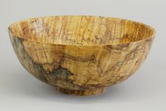 """Traditional Maple Bowl with High Spalting by Jerry Kermode. Size: 4 1/2""""H x 10 1/2""""W x 10 1/2""""D -- on ScrimshawGallery.com #Kermode #bowl"""