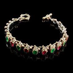 Pulseira Joia Turca Zircônia Vermelha e Jade para exibir os tesouros da Turquia! ♥