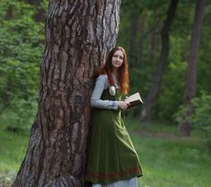 Scandinavian Apron Dress Early Medieval Viking by DressArtMystery