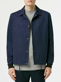 Navy Jersey Tailored Coach Jacket