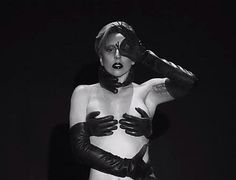 Lady Gaga ARTPOP Applause Faux Leather Glove bikini costume - custom made on Etsy, $200.00