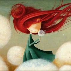 dandelion, art, and drawing image Art Fantaisiste, Children's Book Illustration, Whimsical Art, Cute Art, Amazing Art, Illustrators, Fantasy Art, Artsy, Drawings