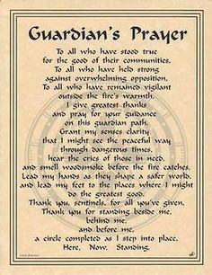 Guardian's Prayer Parchment for Book of Shadows!  pagan wicca witch