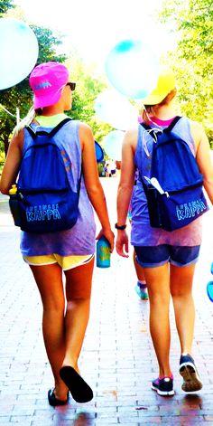 Kappa backpacks: a must for Bid Day.