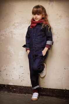 Denim work suit for the very chic. Louise Louise #designer #kids #clothes