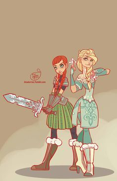 """jmadorran: """" Frozen - Elsa and Anna It's been a while since I drew a new Disney warrior princess. It's supposed to snow tonight so I thought 'hey I should draw some Frozen fan art'. Disney Magic, Disney Pixar, Disney Fan Art, Disney Dream, Disney Animation, Disney E Dreamworks, Disney Love, Disney Frozen, Disney Characters"""