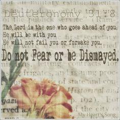 My Heart's Song: Sunday Morning - Deuteronomy 31:8