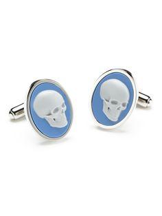 Paul Smith - cameo skull cufflinks