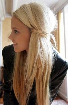 "The way I would do this style? Once teasing and pinning in place with bobby pins, I would use those braids to tie in a ""knot"" in the back to hide the Bobby pins.  It makes it cuter :)"