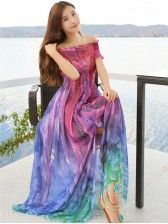 Holiday Style   Off Shoulder    Colorful   Maxi Dress Holiday Style, Holiday Fashion, Cheap Maxi Dresses, Tie Dye Skirt, Dresses Online, Colorful, Shoulder, Skirts, Shopping