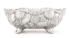 AN AMERICAN SILVER MARINE-THEME BOWL, WHITING MFG. CO., NEW YORK, CIRCA 1885 chased with shells and seaweed. marked on base and numbered 2002B.