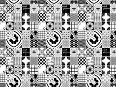 patchwork tiles black and white - Google Search